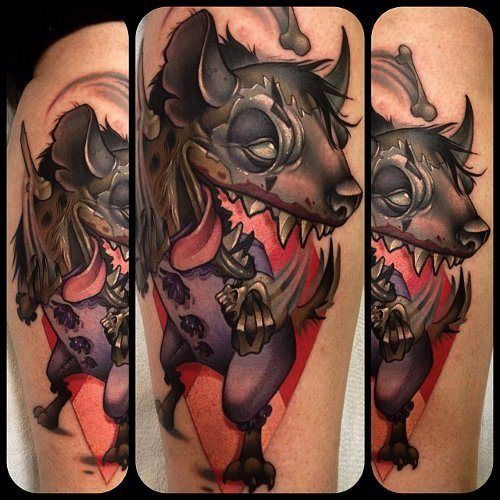 if only this hyena could make it to clown school inkedmagazine hyena tattoo tattoos inked. Black Bedroom Furniture Sets. Home Design Ideas