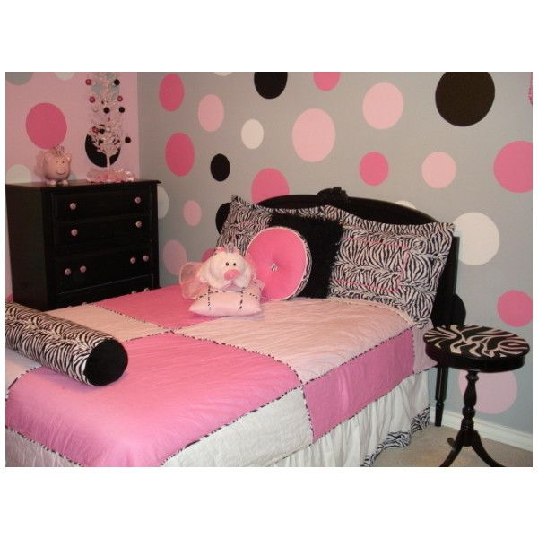 334 best polka dot rooms images on pinterest child room for Polka dot bedroom ideas