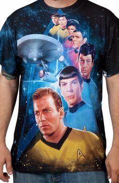 Star Trek Sublimation Shirt: Star Trek Mens T-shirt