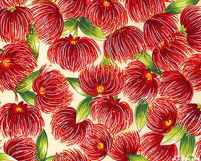'Pohutukawa' from the 'Trees and Flowers' collection. Imported from New Zealand.