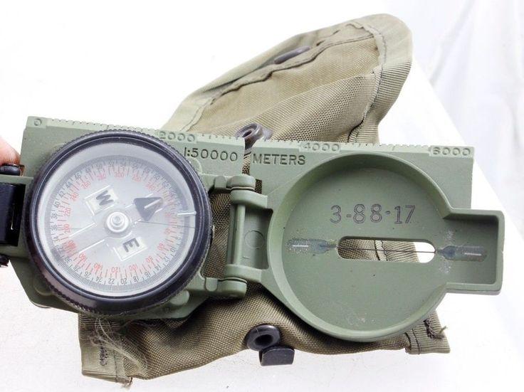 Stocker & Yale U.S. Tritium Lensatic Magnetic Compass, SandY-183 120 mCi 3H