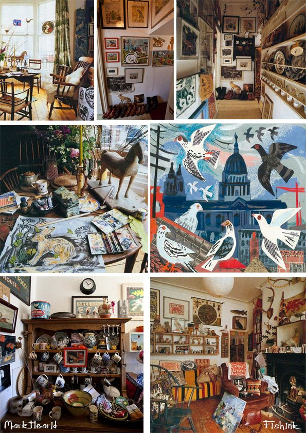 The studio and home of artist Mark Hearld, York