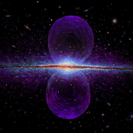 Our galaxy with the giant structure found by Fermi telescope
