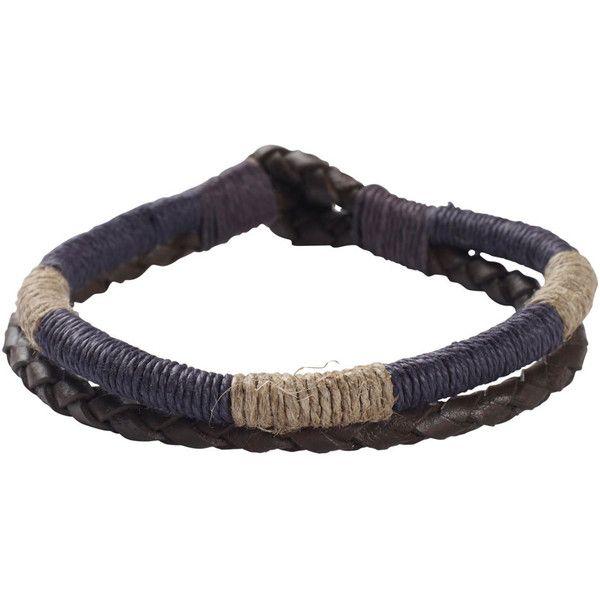 Fat Face Plait And Cord Bracelet ($3.37) ❤ liked on Polyvore featuring men's fashion, men's jewelry, men's bracelets, bracelets, jewelry, mens leather braided bracelets, mens woven leather bracelets, mens cord bracelets, mens leather bracelets and mens woven bracelets