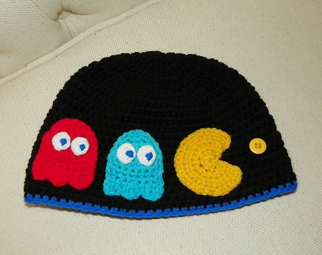 Crochet Hair Rollers Pattern : ... of No Ghosts! ( Pac-Man Inspired ) Hat Pattern pattern by Yarn Artists