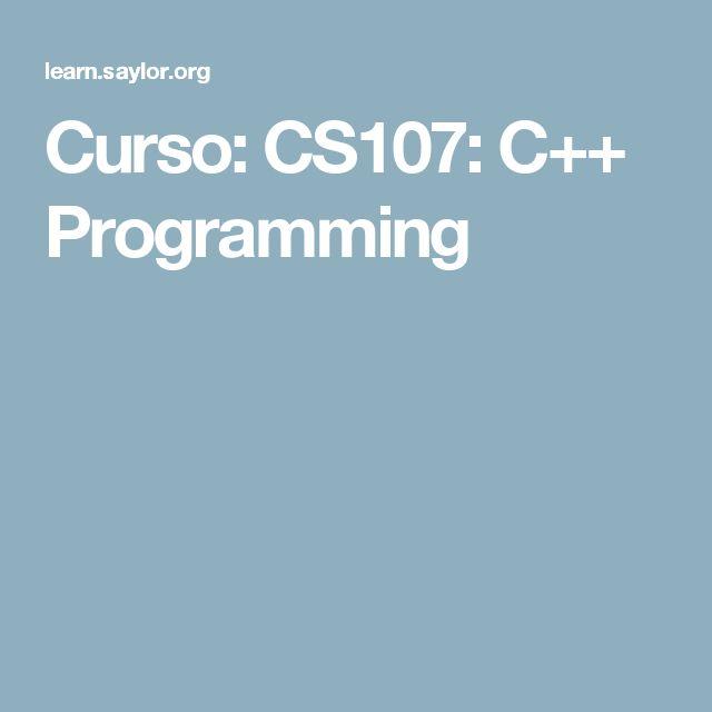 Curso: CS107: C++ Programming