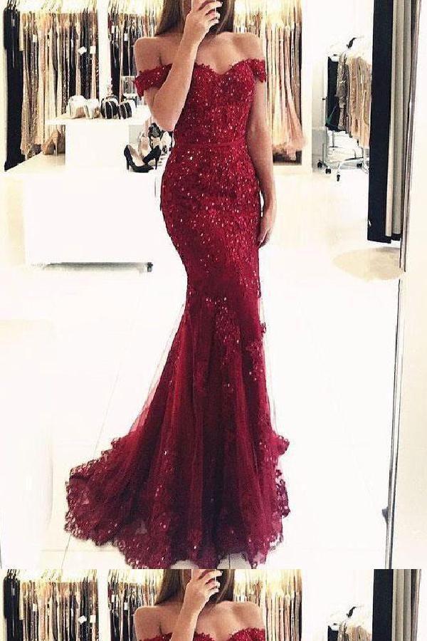 f779eecd294 Custom Made Feminine Maroon Prom Dress