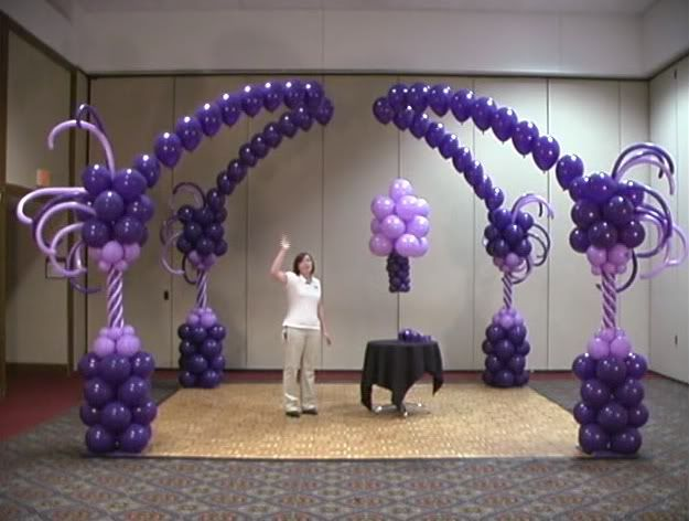 Beautiful whimsical purple balloon arch balloon crazy for Arches decoration ideas