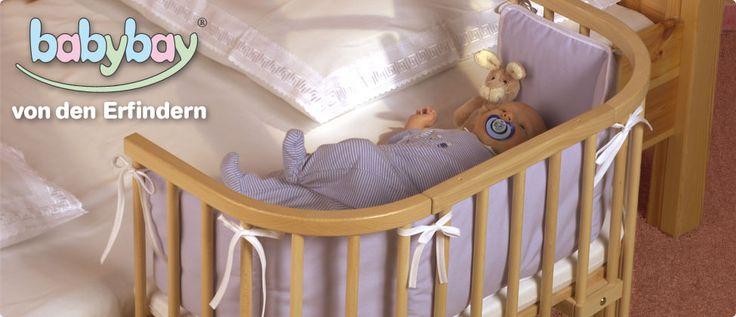 Beistellbett babybay - das geniale Babybett, Stillbett. Das Original von den Erfindern