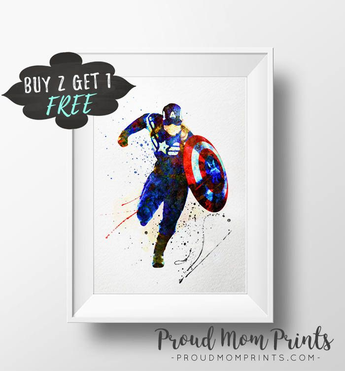 Captain America, Avengers, The Avengers, Avengers Printable, Marvel Wall Art