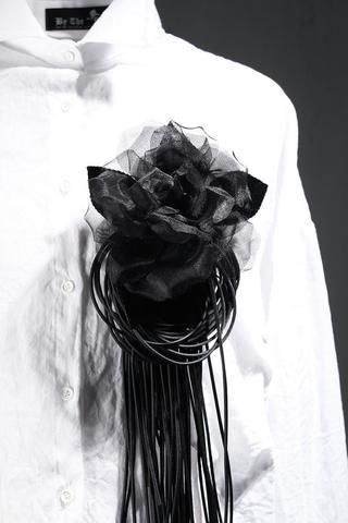Dark Rose Fringe Detail Brooch
