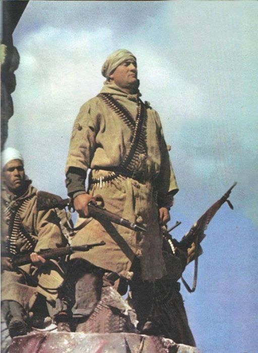 Members of the algerian FLN (Front de Libération National / National Front of Liberation) fighting the french Army. Rifles are german Mauser 98.