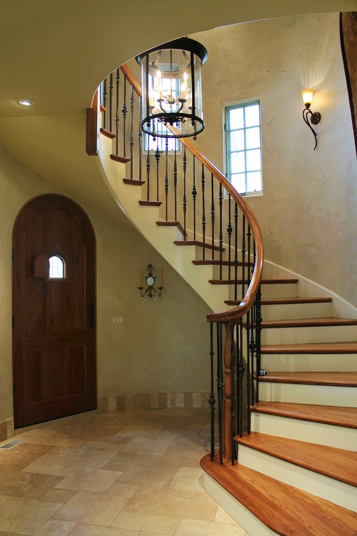 Turreted Country French Staircase Simple Amp Elegant With