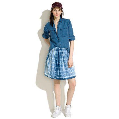 Cupro Skirt - Shibori III by VIDA VIDA Cheap Sale Shop Free Shipping For Nice Cheap Clearance Store U3iLCxVs