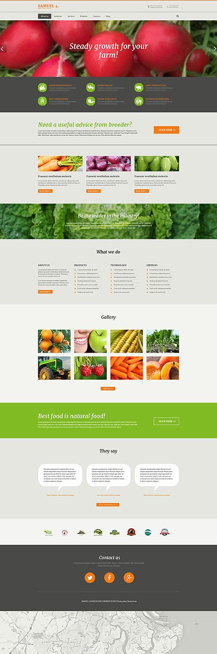 Agriculture Company Site #Drupal #template. #themes #business #responsive