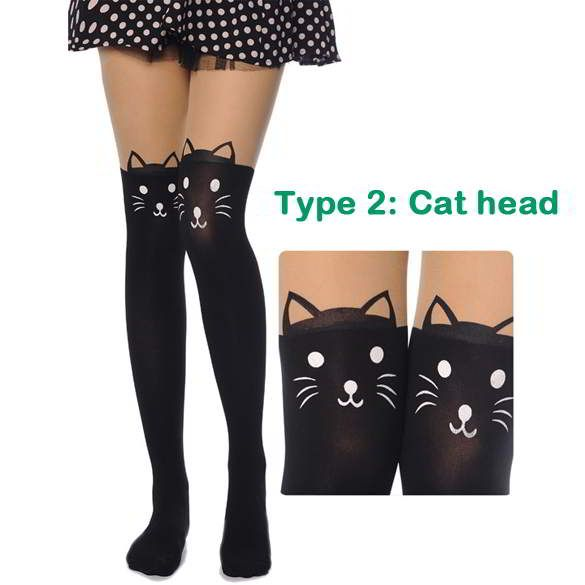 Cat Tower Tattoo Socks Sheer Pantyhose Mock Stockings Cat Head | Stocking & Kaos Kaki | gudangaksesorisimport.com Grosir Fashion Termurah dan Terbesar di Indonesia  Cute and elegance REPIN if you agree.😊 Only 99.5 IDR
