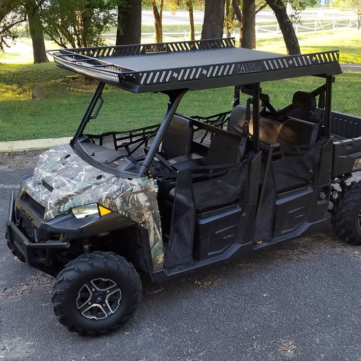 Polaris Ranger 900 Metal Roof - Crew Steel Top with Rack