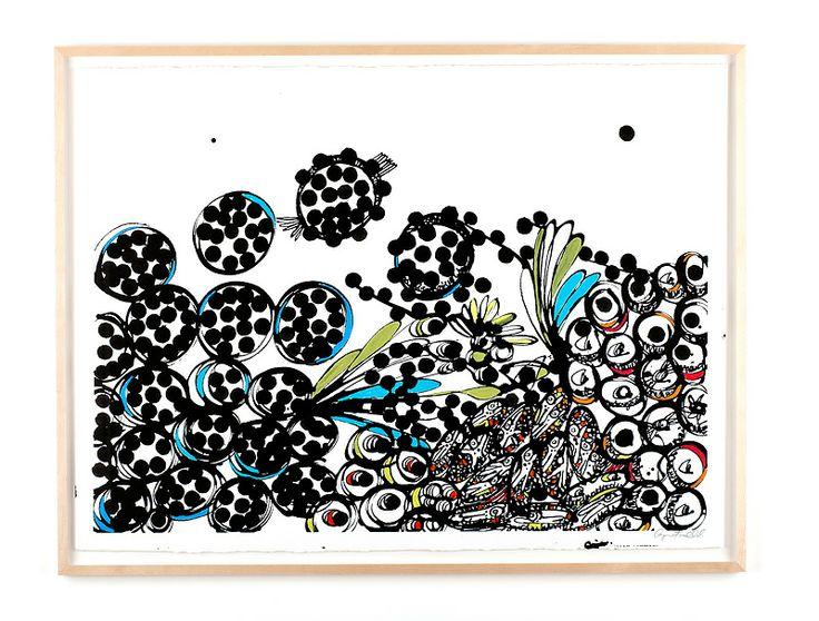 INGEN TITEL Bläck, akvarell och pastellkrita på papper Cajsa Fredlund, cajfre@gmail.com