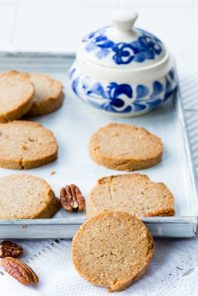 How good does this gluten free banana pecan shortbread look? It's even freezable and vegan. | Thermomix Baking Blogger