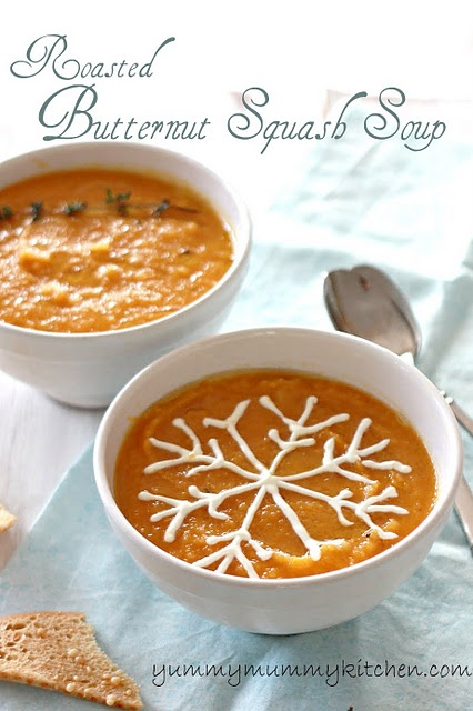 Luv this: Mummy Kitchens, Butternut Squash Soups, Food, Roasted Butternut Squash, Dinners, Recipes, Yummy Mummy, Squashes, Drinks