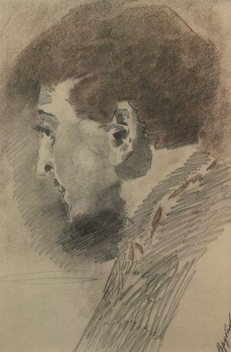 Andrey Savvich Mamontov by Vrubel (1880-90s, GTG).jpg Мамонтов, Андрей Саввич…