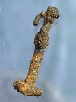 Thor's hammer amulet (c. 8th century), unearthed in Northern Germany.