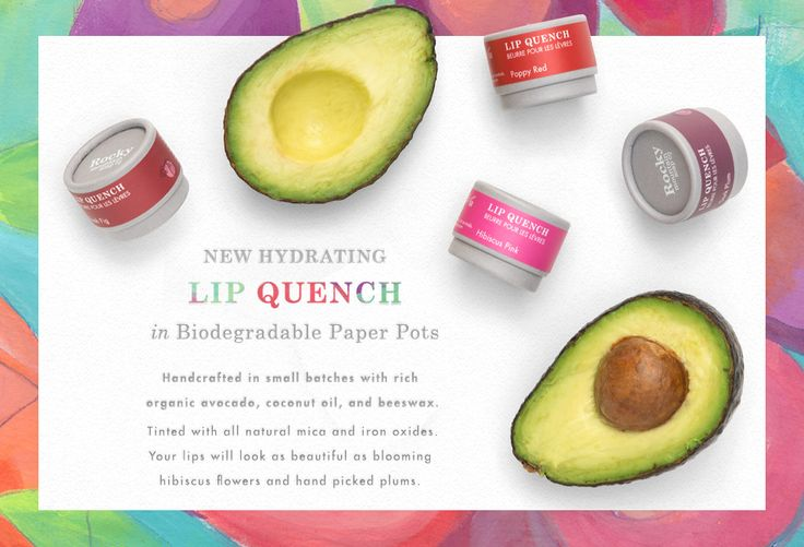 Made with all natural antioxidants, vitamins, and omega-3s sourced from organic avocado, coconut, and beeswax. In biodegradable paper pots that go back to the earth safely. Share your smooches. #KissesfromRocky
