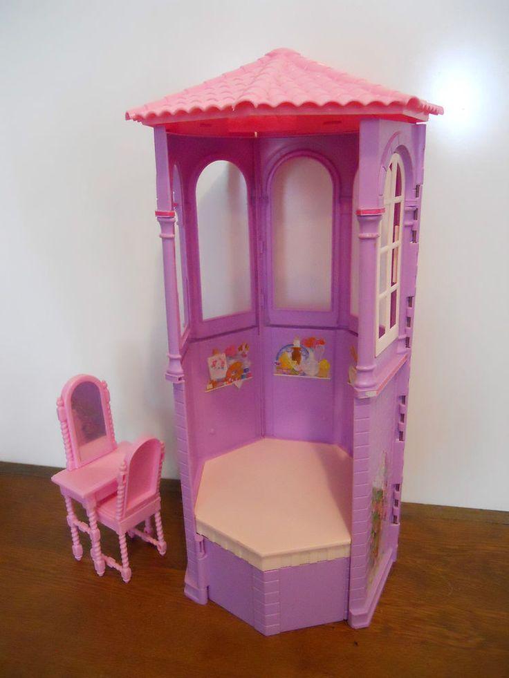 Barbie Rapunzel Tower Doll House Furniture Gazebo Porch