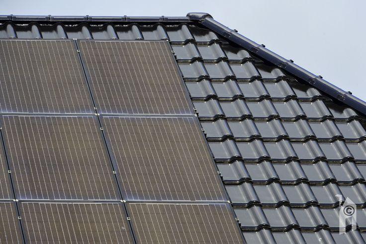Op het dak zitten 29 (!) stuks photo-voltaïsche cellen