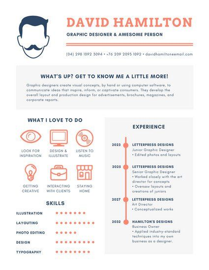 70 best Resume images on Pinterest Infographic resume, Resume