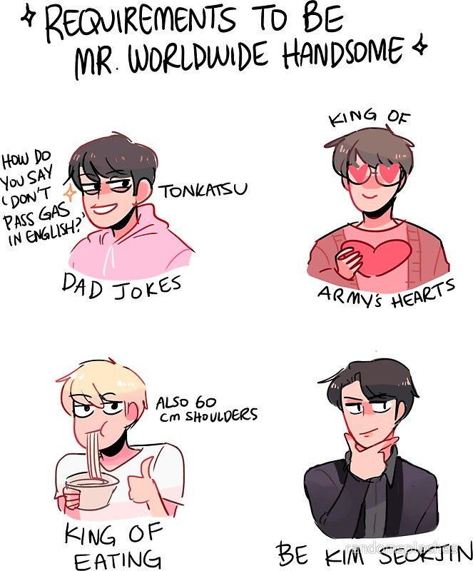BTS: REQUIREMENTS TO BE MR. WORLDWIDE HANDSOME