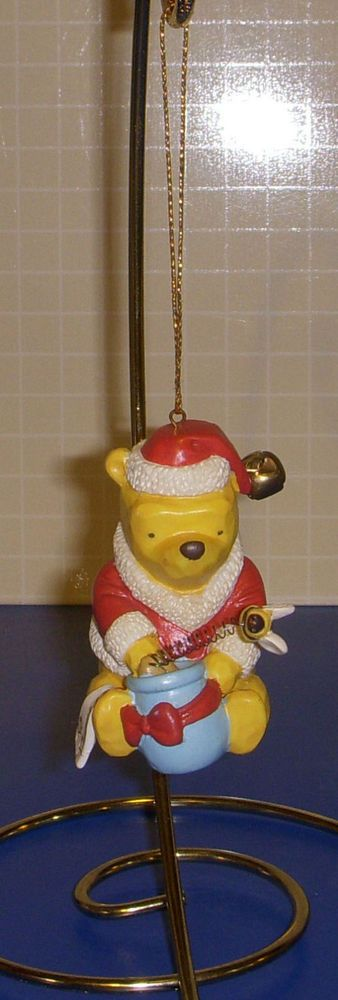 Winnie The Pooh With Honey Pot And Bee Christmas Ornament Disney