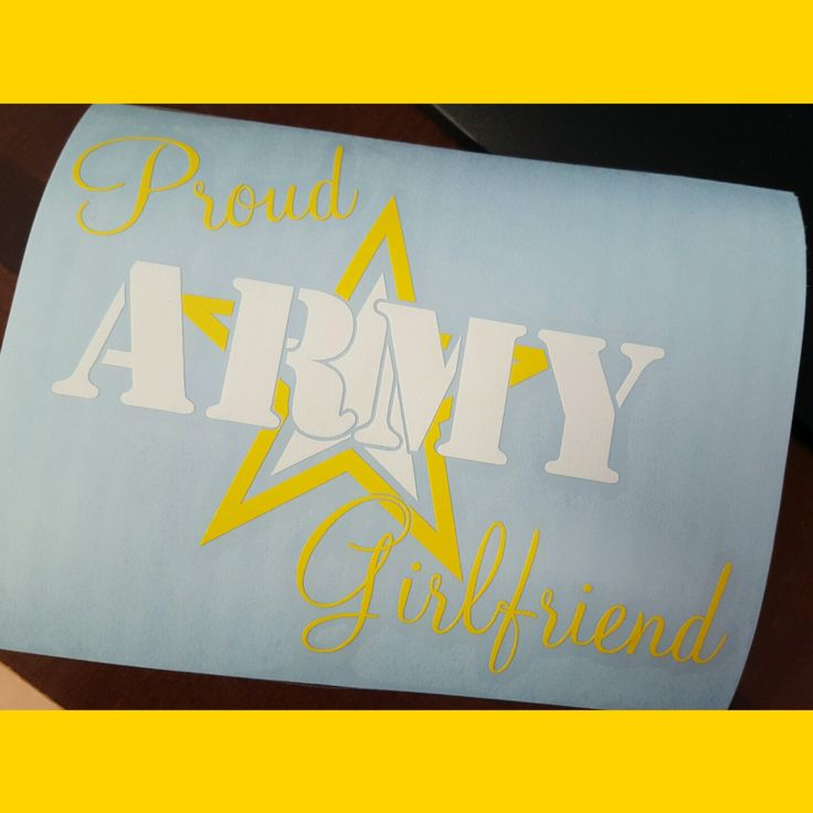 Proud Army Girlfriend Decal shipping out!
