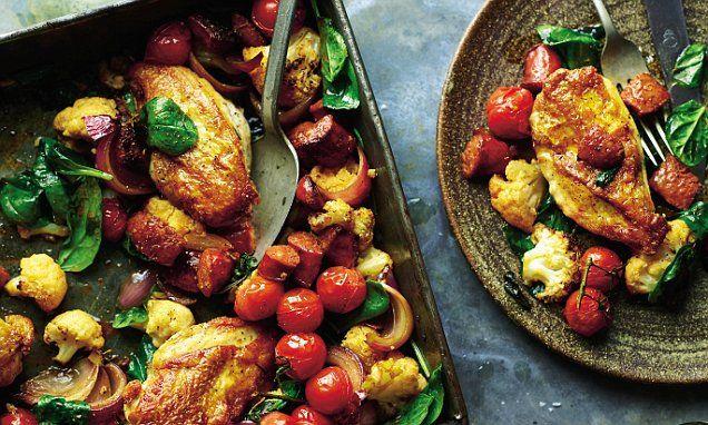 Joe Wicks special: Chicken, chorizo & cauliflower traybake ...