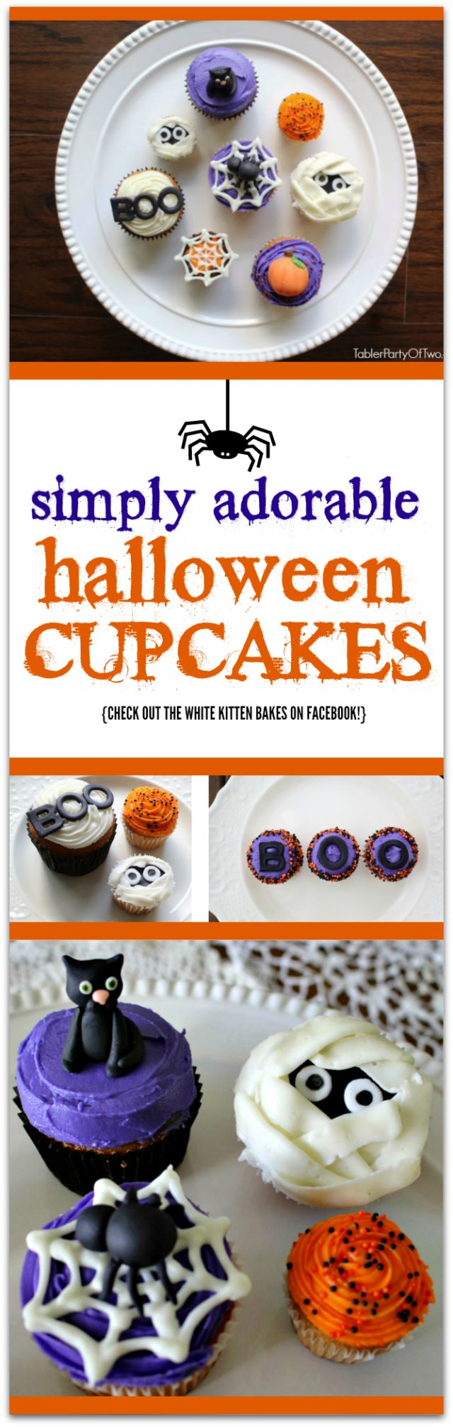 Simply Adorable Halloween Cupcakes! And they taste as wonderful as they look! TablerPartyofTwo.com