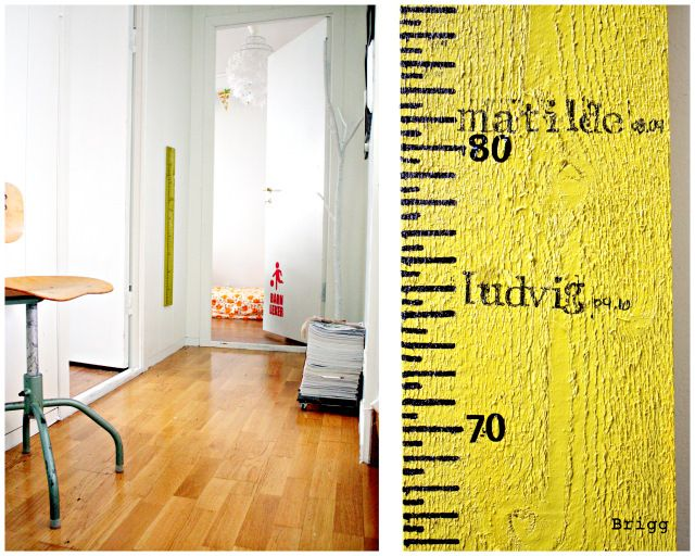 I seriously MUST make something like this - now! The measure-thingie we have now for the kids is.. well.. pretty damn ugly!