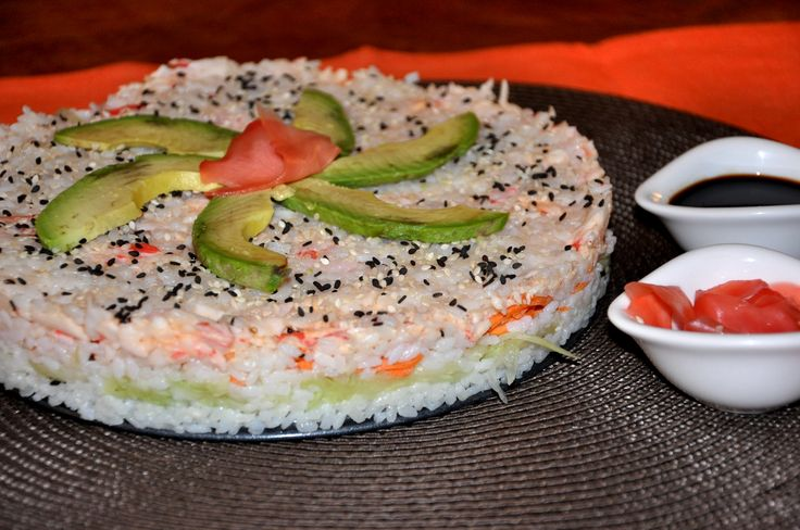 Sushi cake I want this for my bday