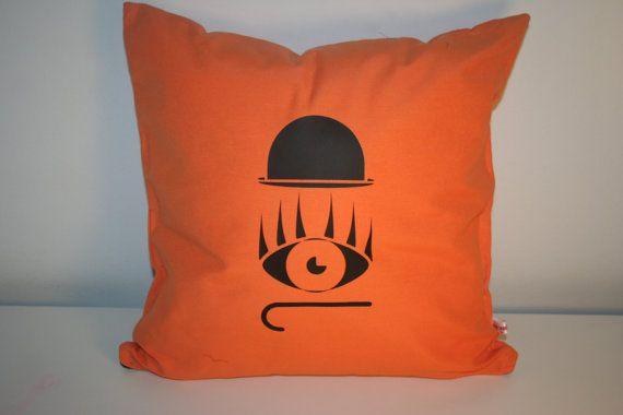 Clockwork orange   cushion  cover  40x40cm 16x16 by Morondanga, €17.00