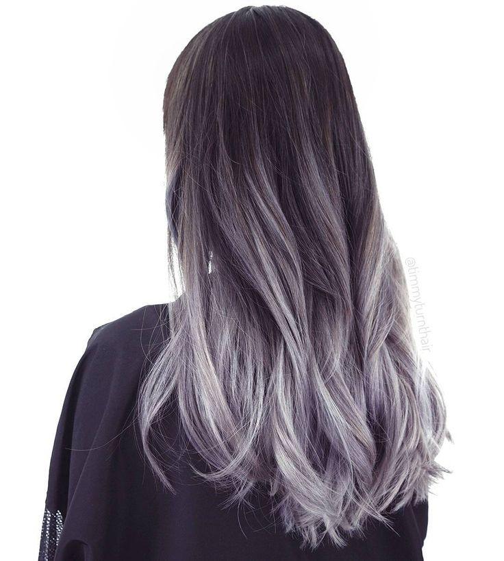 Модная покраска волос пепельный