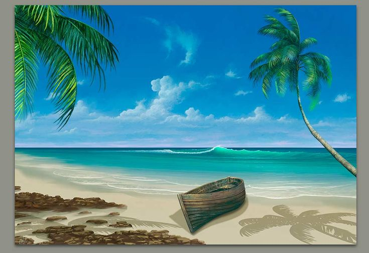 Seascape Painting in Paradise