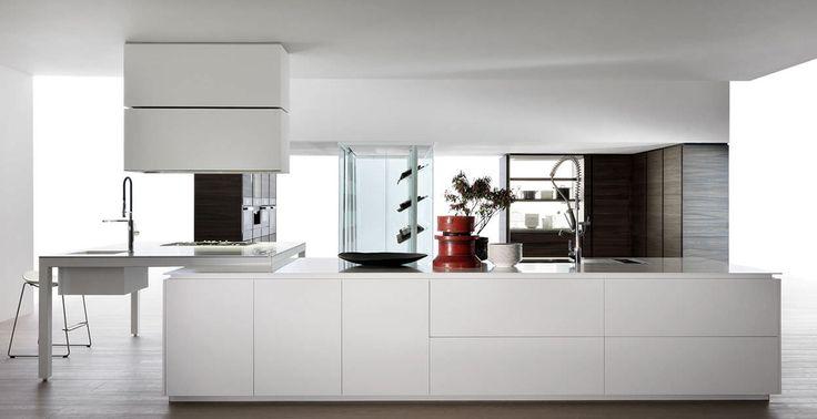 Beautiful Moderne K che Holz Kochinsel lackiert BANCO by Luca Meda Dada