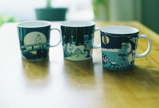 Moomin mugs, via Flickr.
