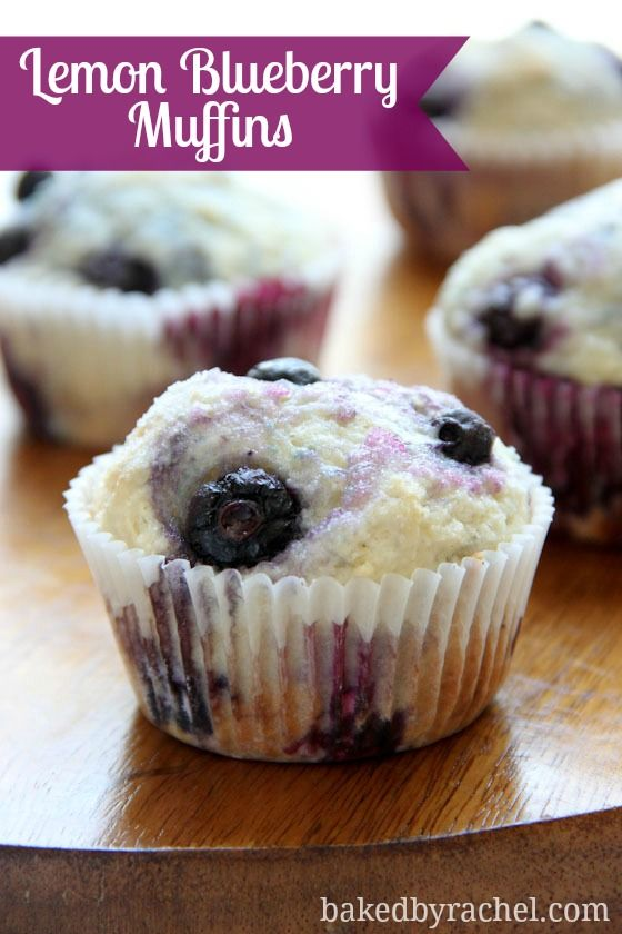 Lemon Blueberry Muffins Recipe from bakedbyrachel.comBreakfast Muffins ...