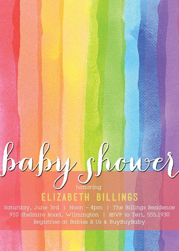 Best Rainbow Baby Shower Invitations Images On Pinterest - Fresh baby shower planner template design