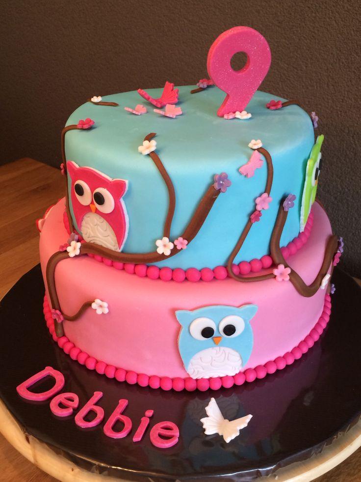Owl cake / uilen taart