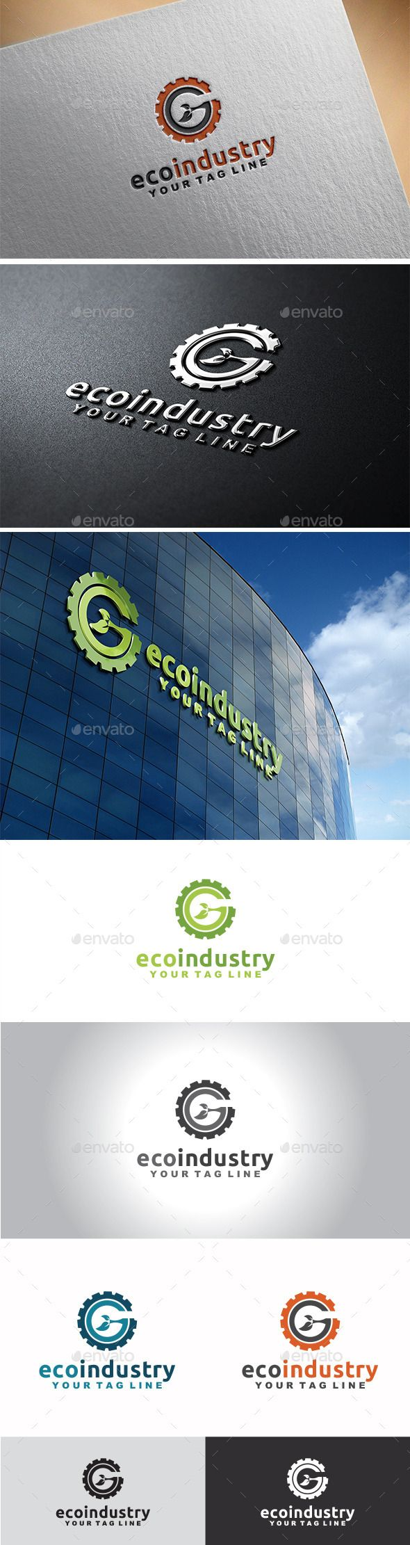 Eco Industry - Logo Design Template Vector #logotype Download it here: http://graphicriver.net/item/eco-industry-logo/11282311?s_rank=933?ref=nesto