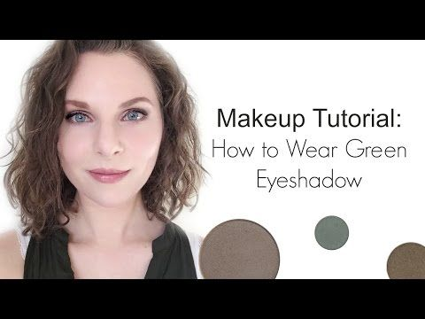 Makeup Tutorial : How to Wear Green Eyeshadow - YouTube Red Apple Cosmetics