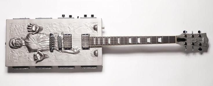 Custom luthier Travis Stevens built the Han Solo in Carbonite guitar for former-Evanescence guitarist Ben Moody's birthday.