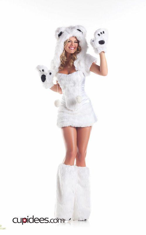 Sexy White Polar Bear Costume - Cupidees.com