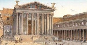 Tempio di Marte Ultore, inaugurato nel 2 a.C. Commissionato da Traiano per il suo Foro